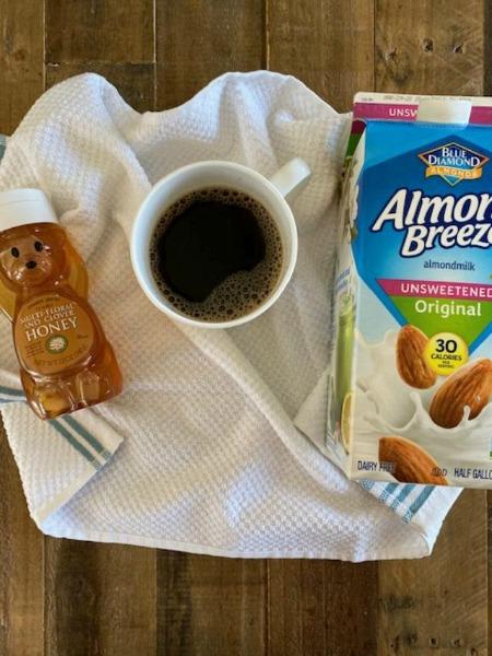 almond milk honey flat white