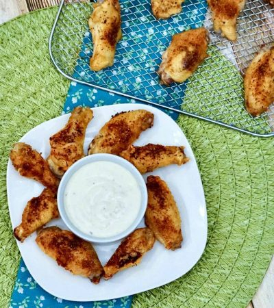 Seasoned Air Fryer Chicken Wings