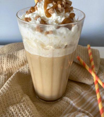 Copycat Starbucks Caramel Ribbon Crunch Frappuccino